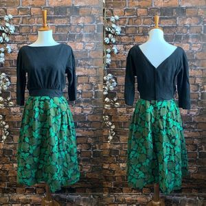 Vintage 1960s Fit And Flare Dress Size Medium